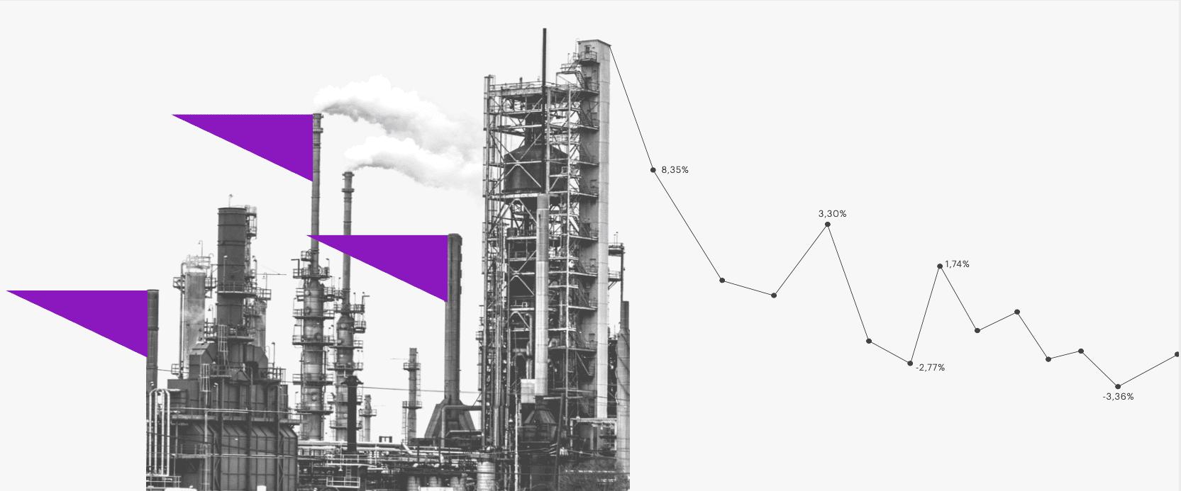Refinería y gráfica anuncian caída del petróleo