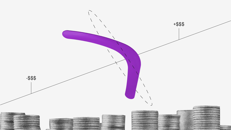 Boomerang y monedas contracargo