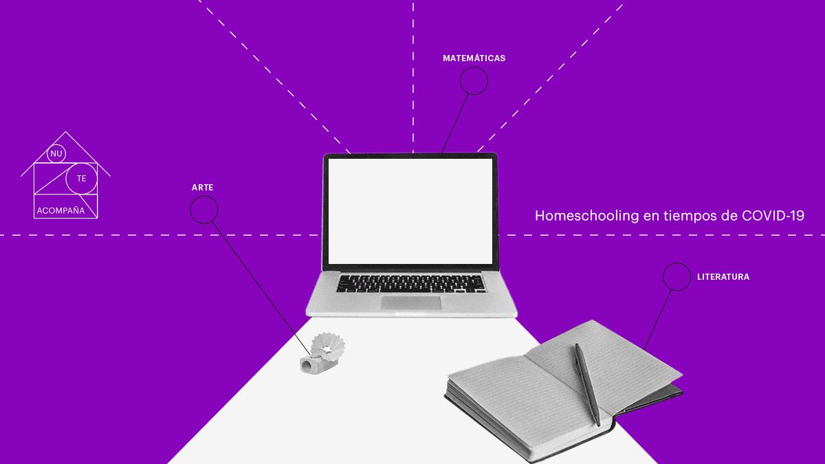 computadora y cuaderno la realidad del Homeschooling