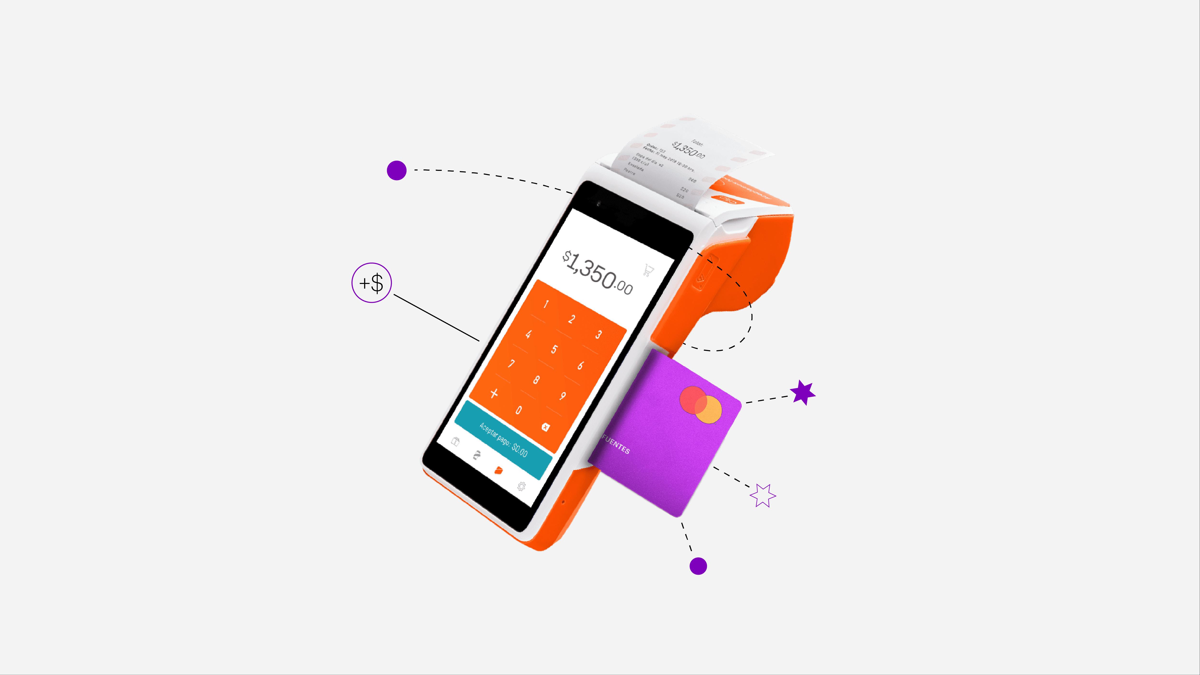Terminal portátil de cobro Clip con tarjeta de crédito Nu ofrecen Meses Sin Intereses