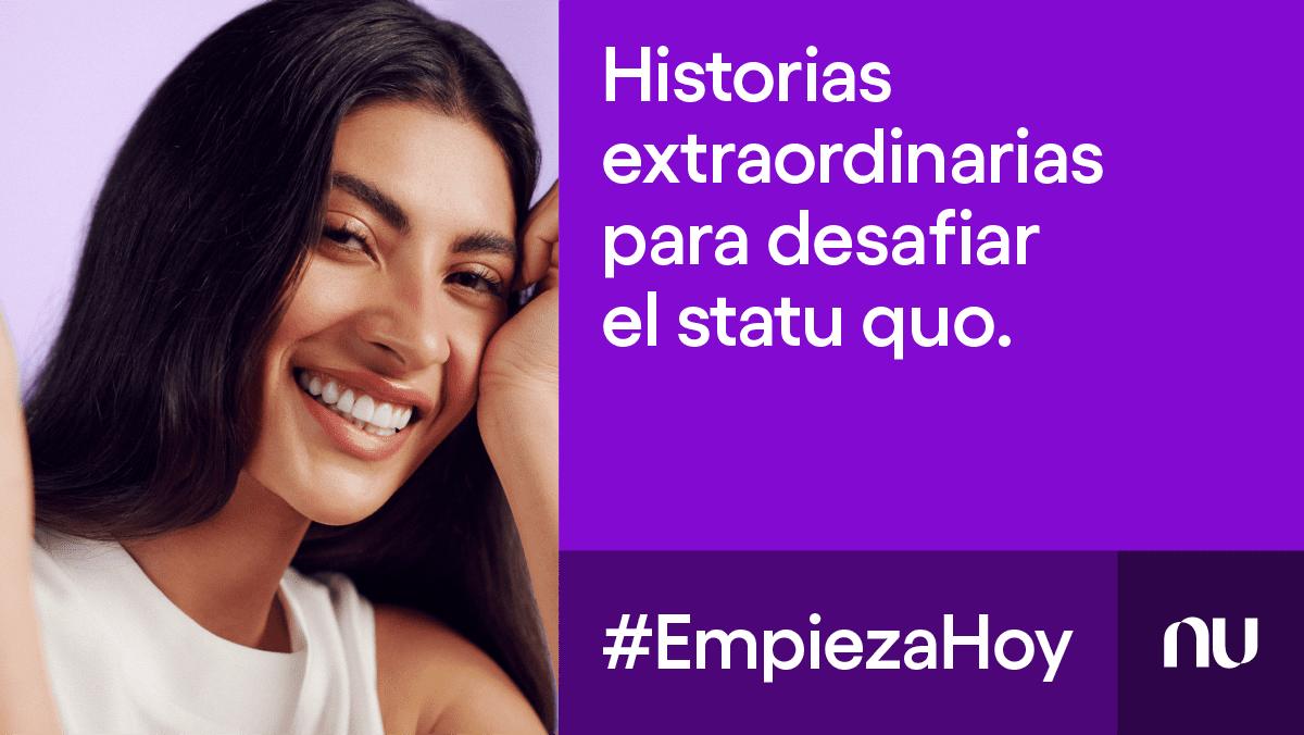 chica joven de cabello oscuro sonríe y presenta historias de gente extraordinaria: #EmpiezaHoy